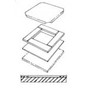 Пресс форма для плиток 818698D