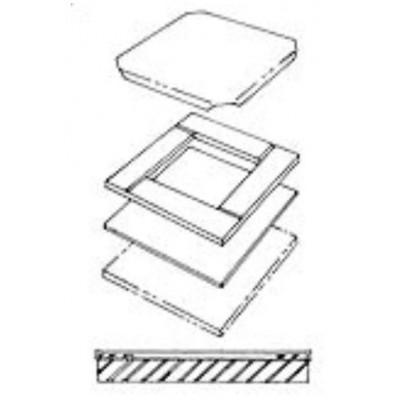 Пресс форма для плиток 818703D