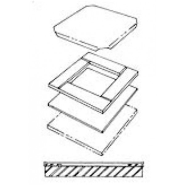 Пресс форма для плиток 818702D
